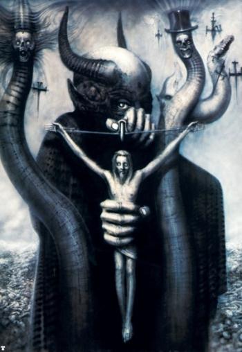 Satan I (artwork by Hans Rudi Giger)