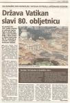 Država Vatikan slavi 80. obljetnicu