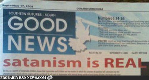 Dobra vijest: sotonizam je stvaran!