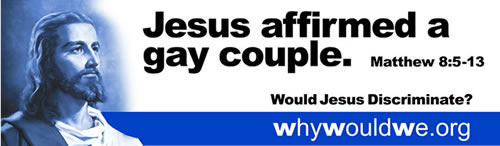 Jesus affirmed a gay couple